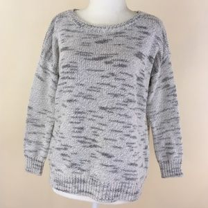 Alice + Olivia Lt Grey White Pullover Sweater S